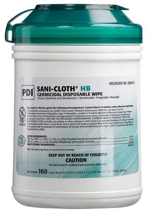 SaniCloth HB Germicidal Disposable Wipes  GREEN TOP