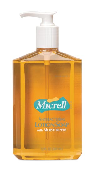 Micrell Antibacterial Lotion Soap, 12 oz Pump (Case of 12)